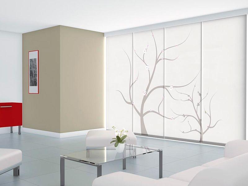 Por qu elegir paneles japoneses para decorar las ventanas persianas lavirgen - Estores y paneles japoneses ...